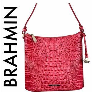 BRAHMIN NWT PINK LEATHER CROSSBODY BAG